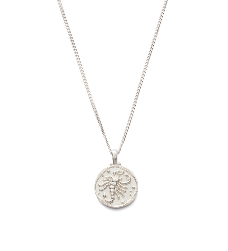 Scorpio Zodiac Necklace - Silver