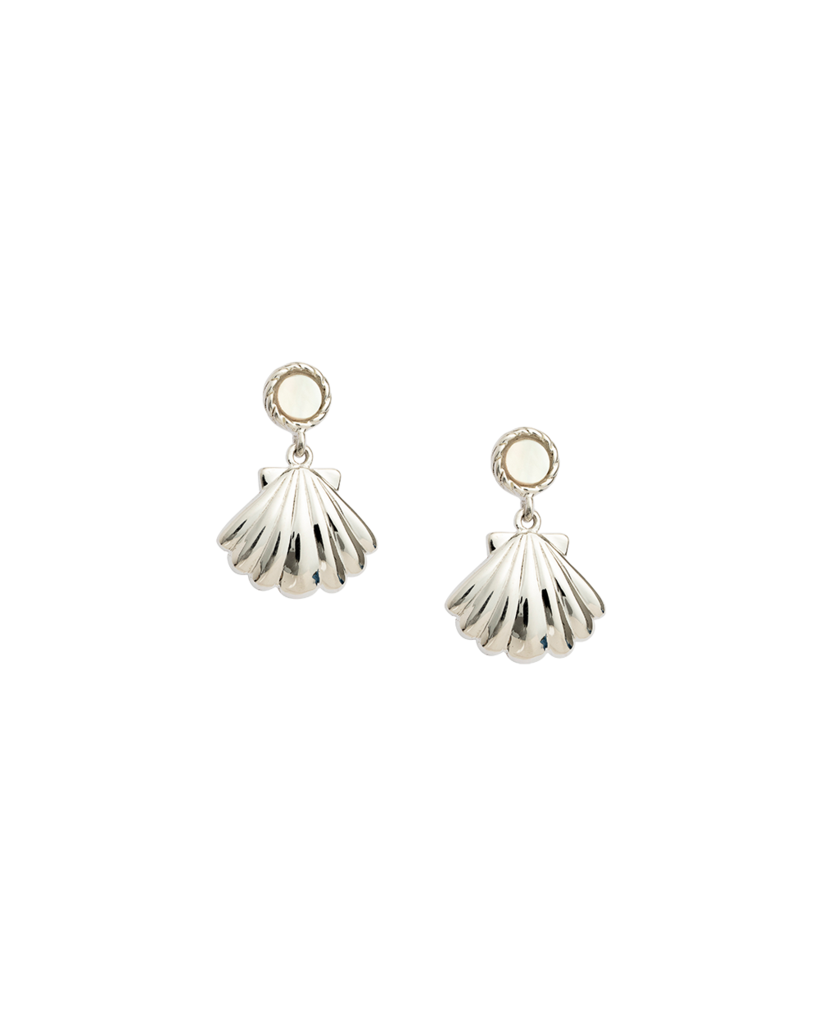 Seashell Earring Set - Silver