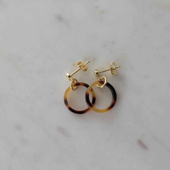 Little Tort Hoops - Dark/ Gold