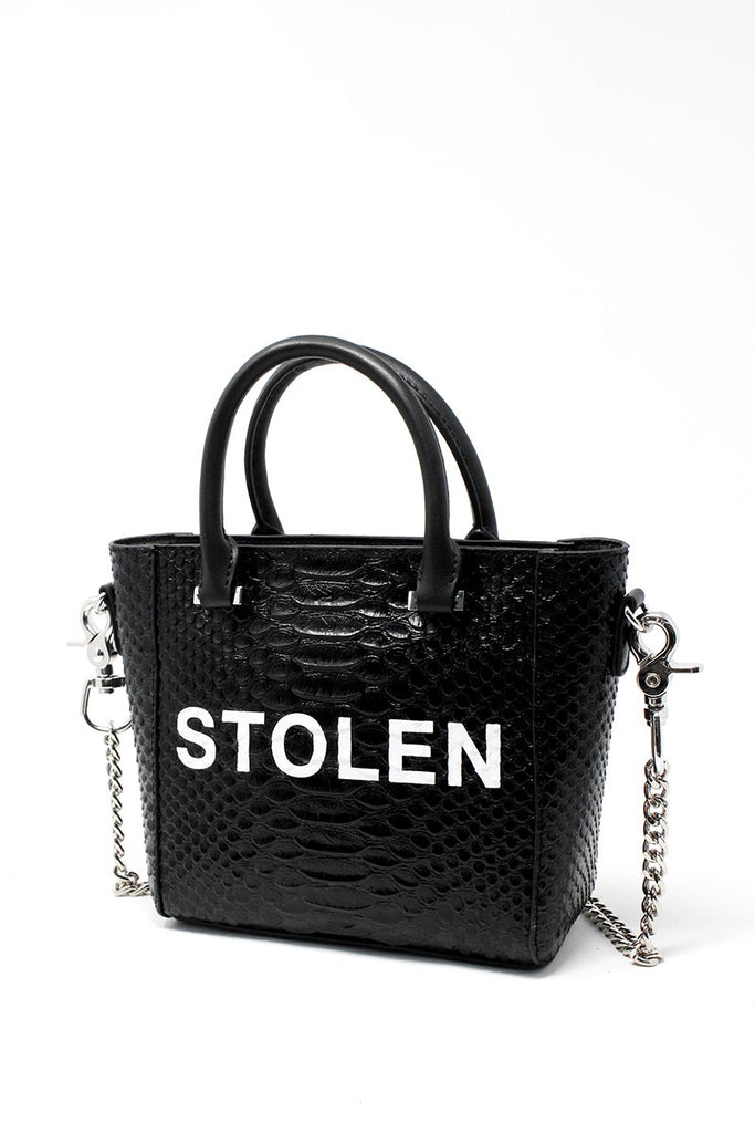 Tiny Dancer Handbag - Black Snake