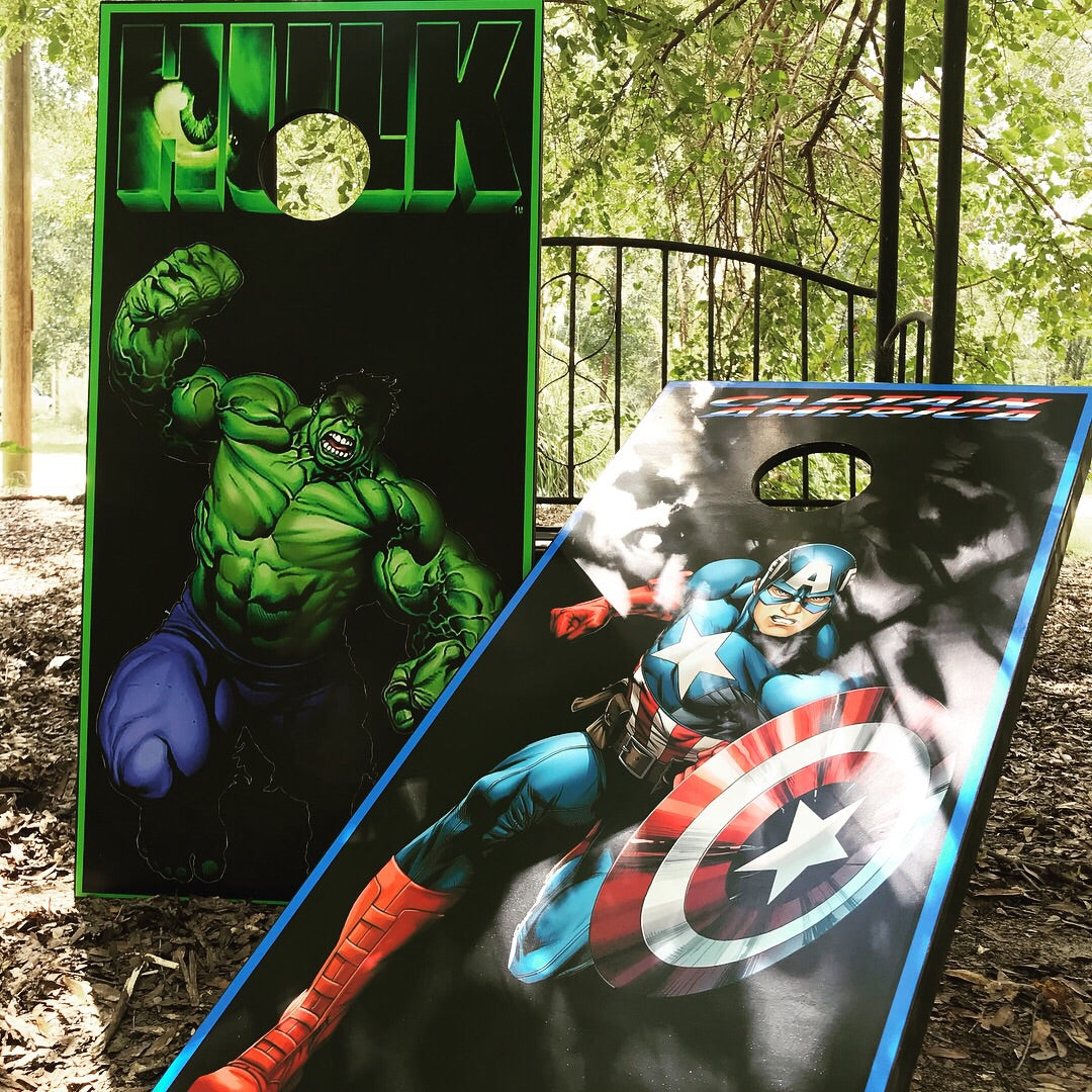 Fabulous The Hulk Captain America Cornhole Set With Bean Bags Pdpeps Interior Chair Design Pdpepsorg