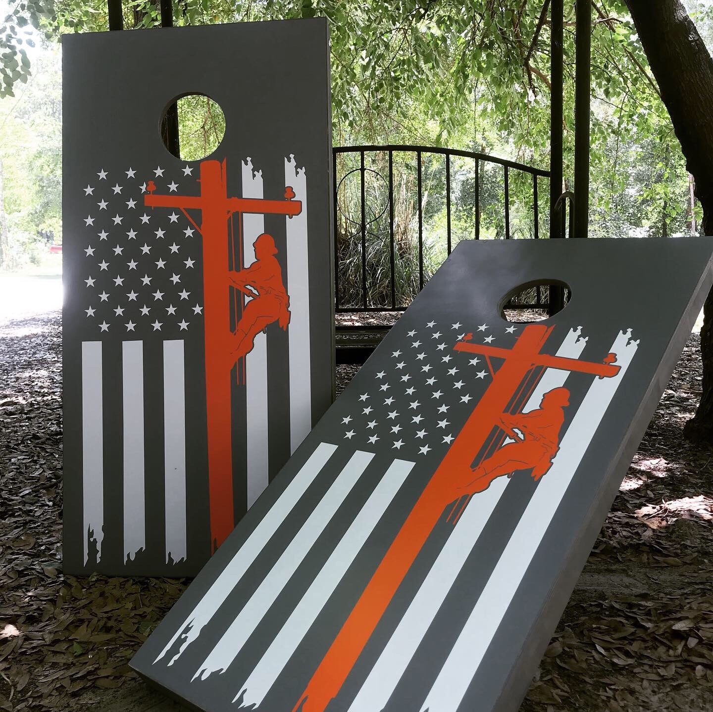 Browning Cornhole Boards USA made Stained
