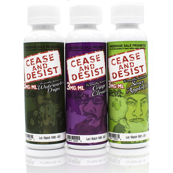 Sour Apple O's by Cease and Desist | Sour Apple Bubblegum Eliquid