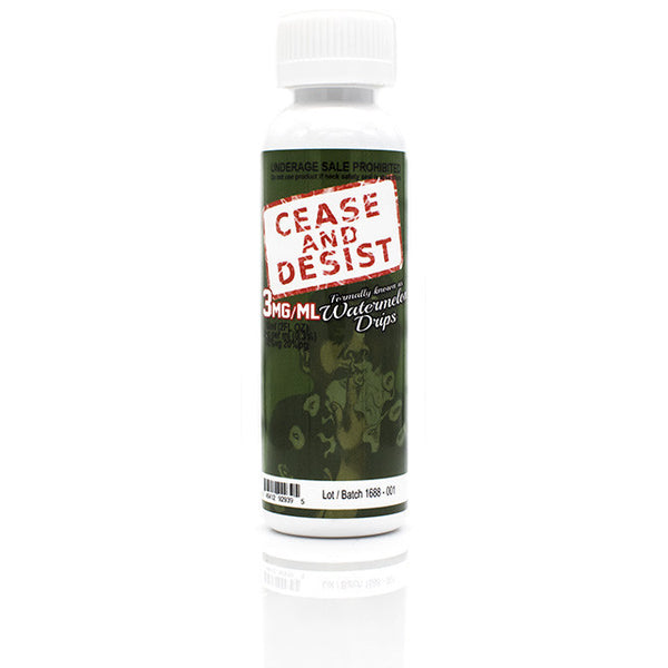 Watermelon Clouds Eliquid by Cease and Desist | Watermelon Bubblegum Eliquid