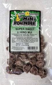 Aloha Gourmet Da Mini Pounder Super Sweet Li Hing Mui 2.25oz (NOT FOR SALE TO CALIFORNIA)