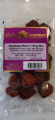 Aloha Gourmet Seedless Lihing Mui Red 1oz (NOT FOR SALE TO CALIFORNIA)