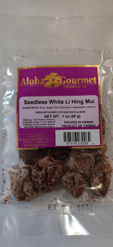 Aloha Gourmet Seedless Lihing Mui White 1oz (NOT FOR SALE TO CALIFORNIA)