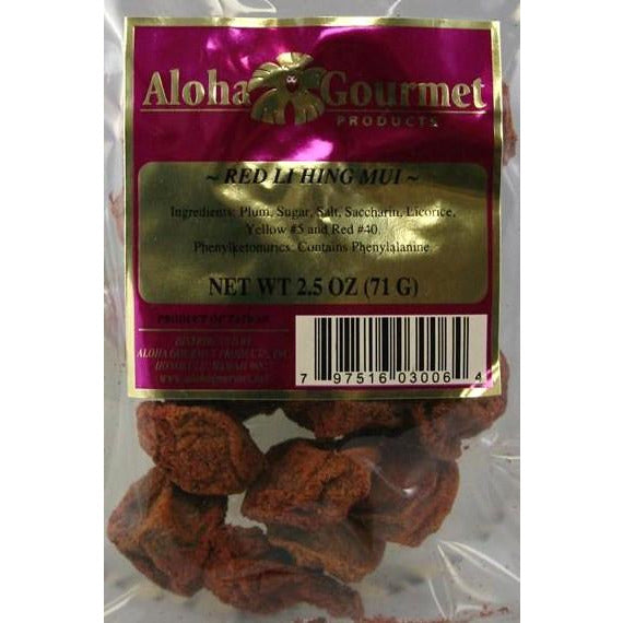 Aloha Gourmet Red Lihing Mui 2.5oz (NOT FOR SALE TO CALIFORNIA)