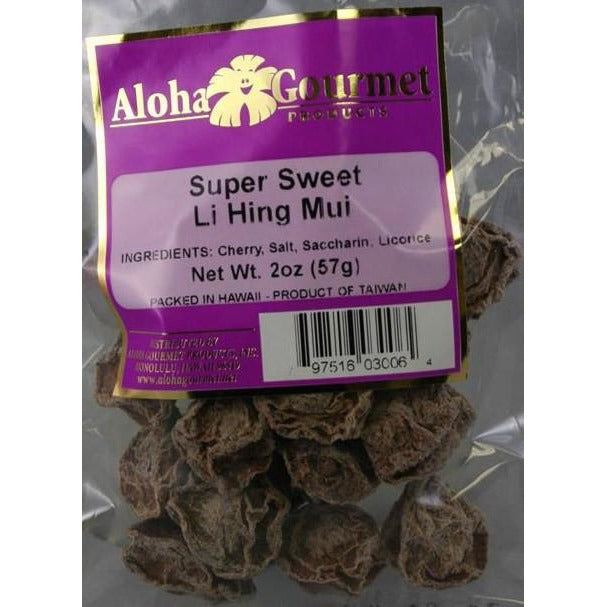 Aloha Gourmet Super Sweet Lihing Mui 2oz (NOT FOR SALE TO CALIFORNIA)