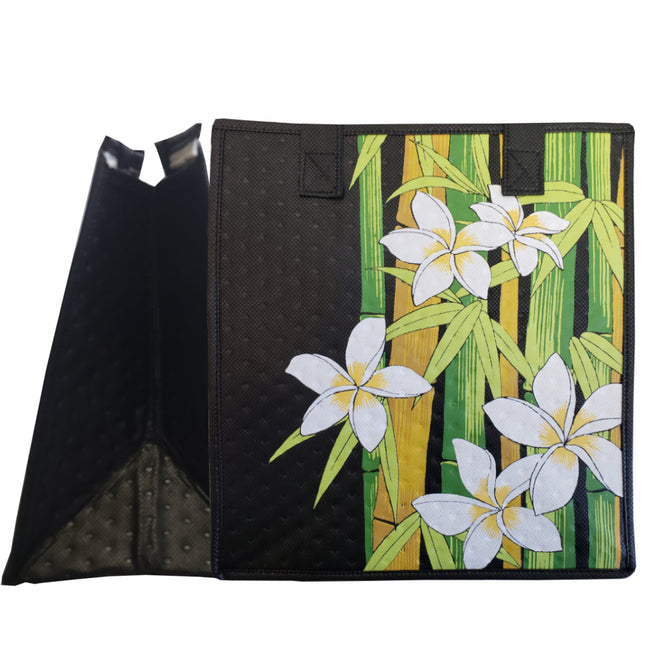 Tropical Paper Garden Hawaiian Hot/Cold Reusable Medium Bag - Bamboo East