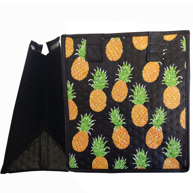 Tropical Paper Garden Hawaiian Hot/Cold Reusable Small Bag - Barefoot Black