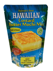 Hawaii's Best Hawaiian Custard Butter Mochi Mix 15 oz