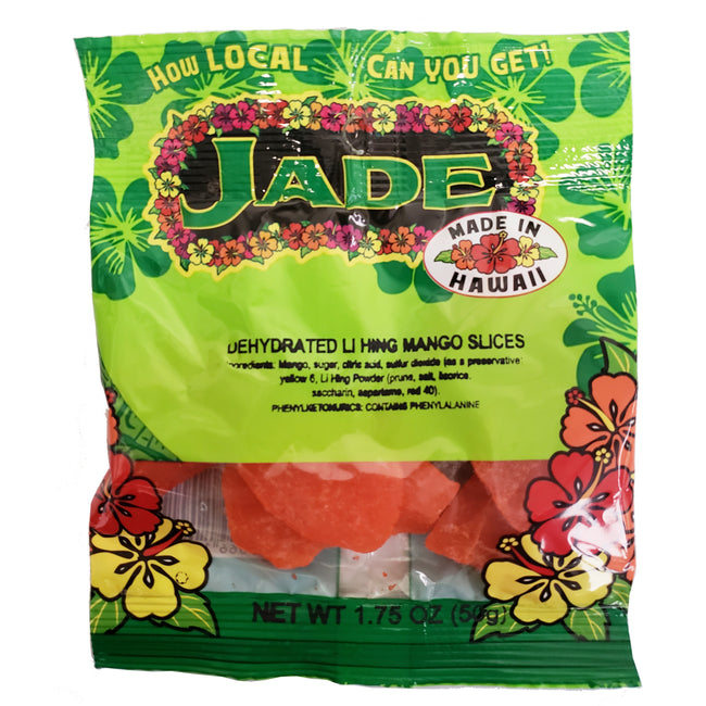 Jade Dehydrated Li Hing Mango Slices 1.75 oz (NOT FOR SALE TO CALIFORNIA)