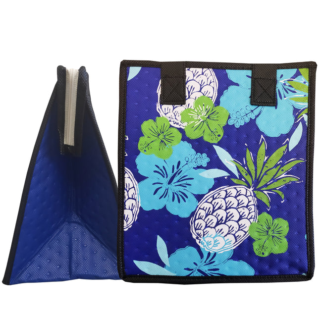 Tropical Paper Garden Hawaiian Hot/Cold Reusable Small Bag - Flower Bomb Royal