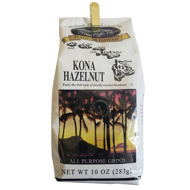 Hawaiian Isle Kona Coffee Co. Kona Hazelnut Ground Coffee 10 oz
