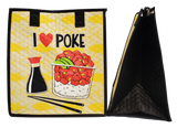 Tropical Paper Garden Hawaiian Hot/Cold Reusable Medium Bag - I Love Poke