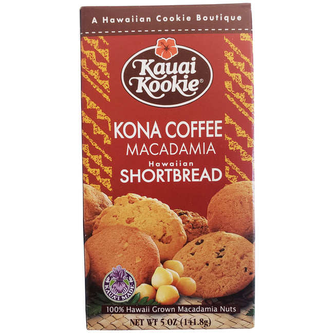 Kauai Kookie Kona Coffee Macadamia Cookies 5oz