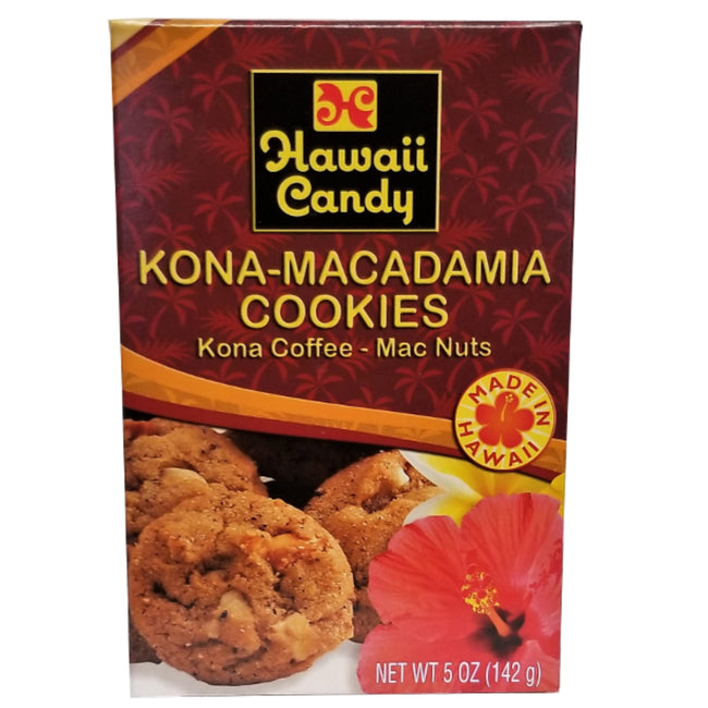 Hawaii Candy Kona Coffee Macadamia Nut Cookies 5 oz