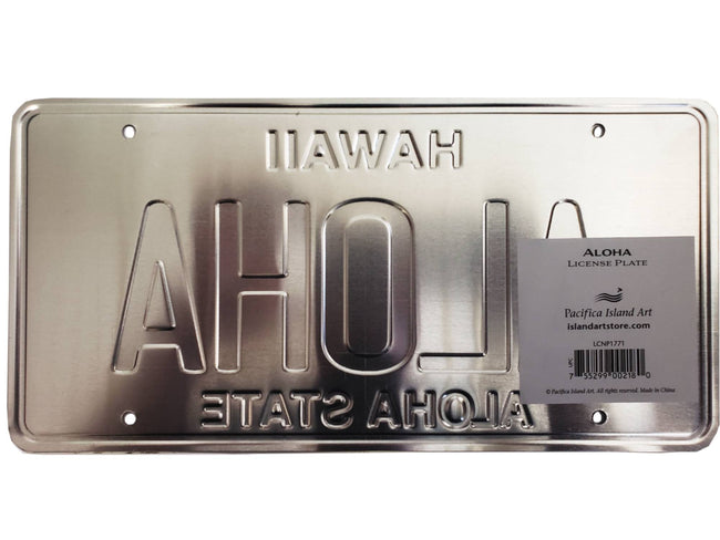 Novelty License Plate - Aloha License Plate