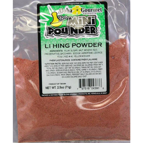 Aloha Gourmet Da Mini Pounder Lihing Powder 2.5oz (NOT FOR SALE TO CALIFORNIA)