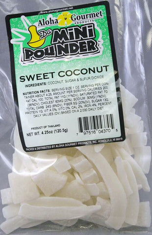Aloha Gourmet Da Mini Pounder Sweet Coconut 4.25oz
