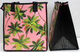 Tropical Paper Garden Hawaiian Hot/Cold Reusable Medium Bag - Palm Trees Pink