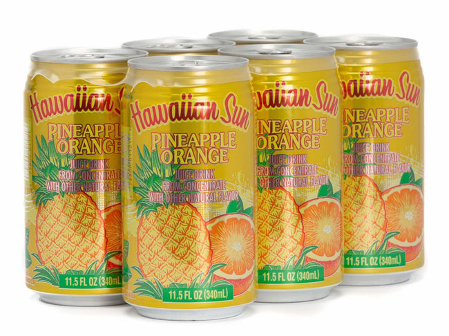 Hawaiian Sun Drink - Pineapple Orange 11.5oz (Pack of 6)