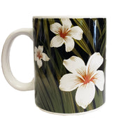 Black Plumeria Mug 11 oz | Comes in a Mug Box