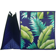Tropical Paper Garden Hawaiian Hot/Cold Reusable Medium Bag - Rustic Royal