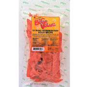 Enjoy Li Hing Strawberry Sour Belts 8 oz (NOT FOR SALE TO CALIFORNIA)