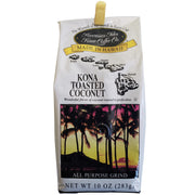 Hawaiian Isles Kona Coffee Toasted Coconut Ground Coffee 10oz