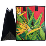 Tropical Paper Garden Hawaiian Hot/Cold Insulated Large Bag - Truest Red