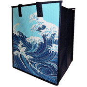 Tropical Paper Garden Hawaiian Hot/Cold Insulated Large Bag- Abunai Blue