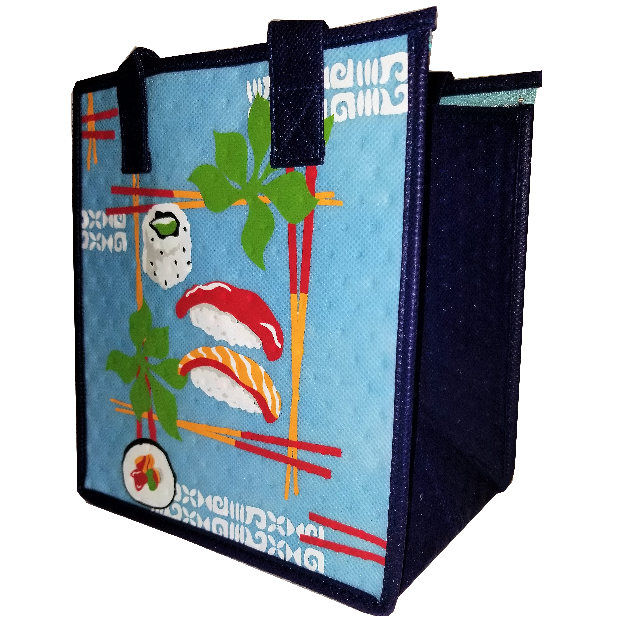 Tropical Paper Garden Hawaiian Hot/Cold Reusable Small Bag - Maguro Sky