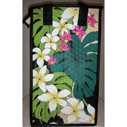 Tropical Paper Garden Reusable Hot/Cold Double Wine Bag- Makalei Black/White