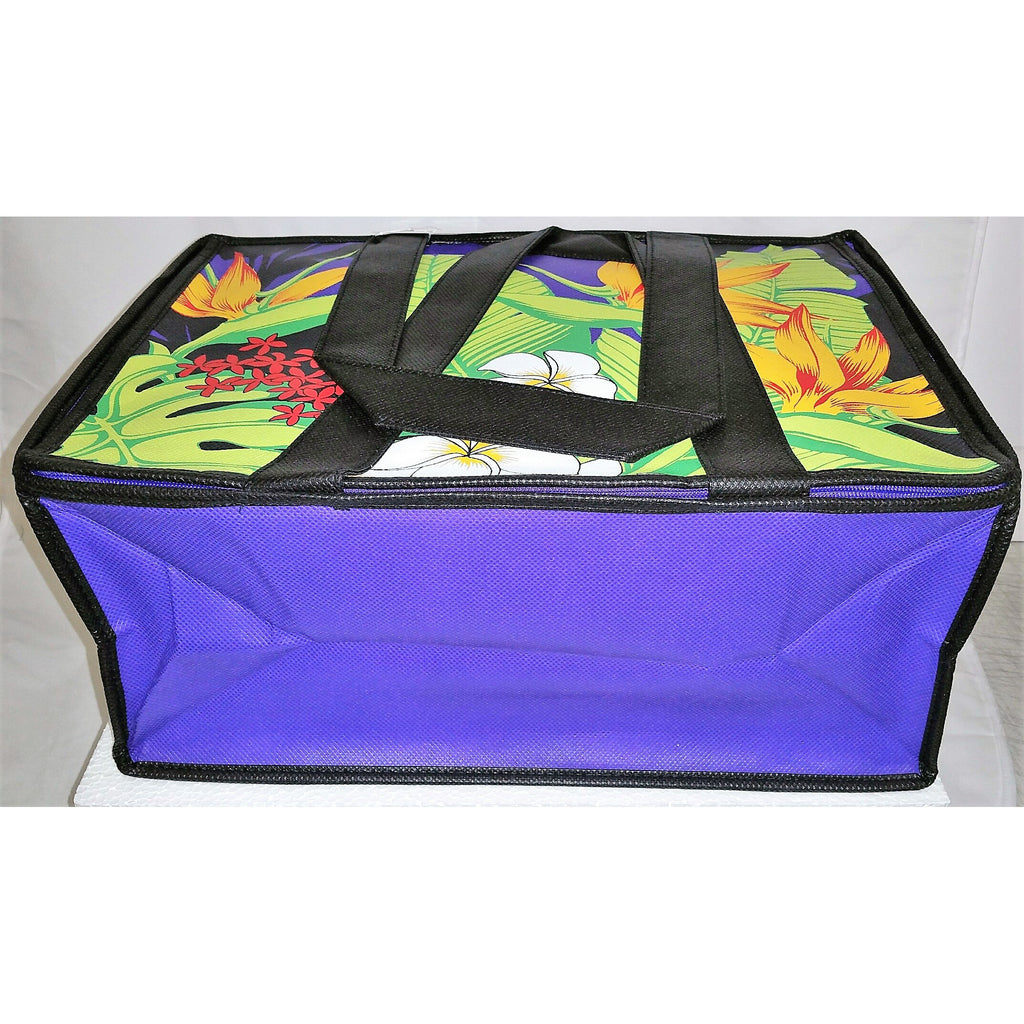 Tropical Paper Garden Hot/Cold Reusable Large Casserole Bag - Makiki Purple Casserole