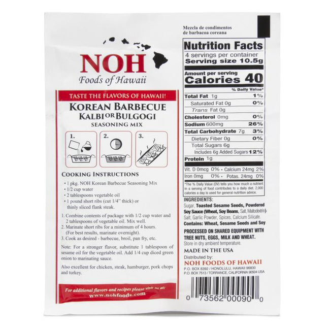 NOH Korean Barbecue- Kal Bi 1.5oz