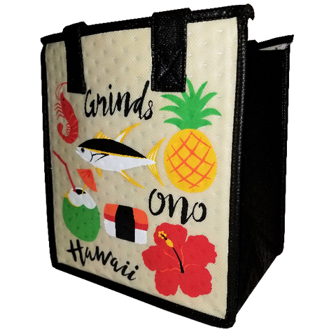 Tropical Paper Garden Hawaiian Hot/Cold Reusable Small Bag - Ono Grinds Cream