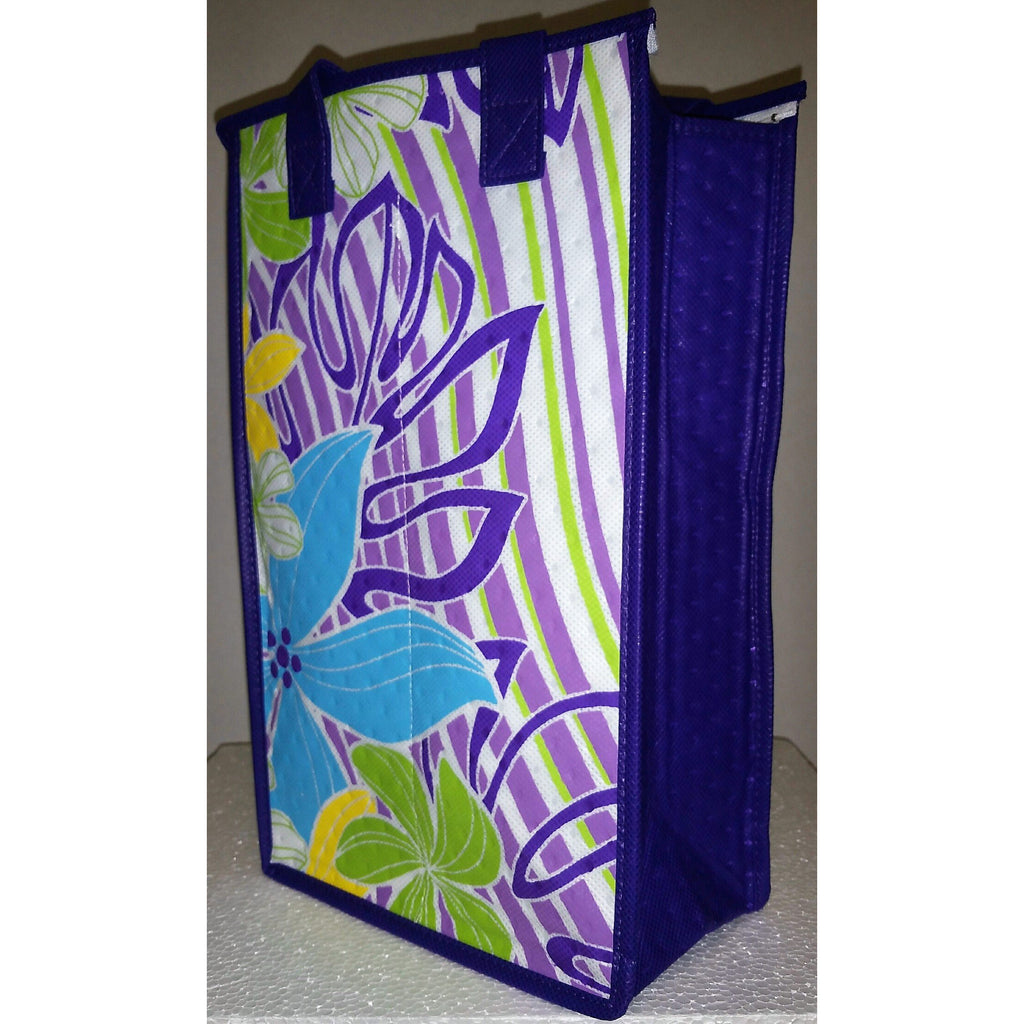 Tropical Paper Garden Reusable Hot/Cold Double Wine Bag- Providence Purple
