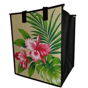 Tropical Paper Garden Hawaiian Hot/Cold Insulated Large Bag- Pualani Cream