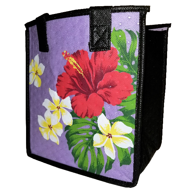 Tropical Paper Garden Hawaiian Hot/Cold Reusable Small Bag - Ruti Purple