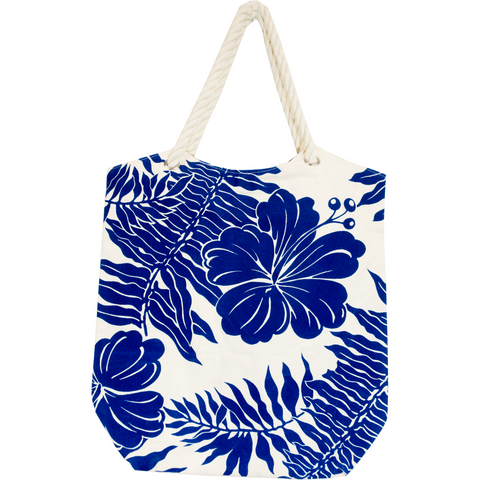 Tropical Paper Garden  Kawika Canvas Tote Bag - Tahitian Pareau Canvas