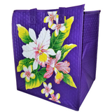 Tropical Paper Garden Hawaiian Hot/Cold Insulated Large Bag- Washy Orchid Purple