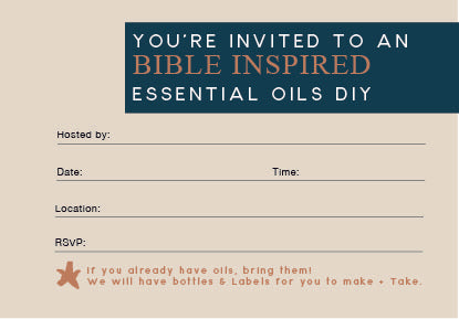 Bible Inspired Essential Oil Workshop - Digital Evite