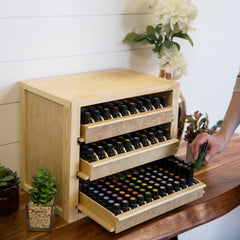 First In First Out Organizer - For storing over 300 essential oil bottles!