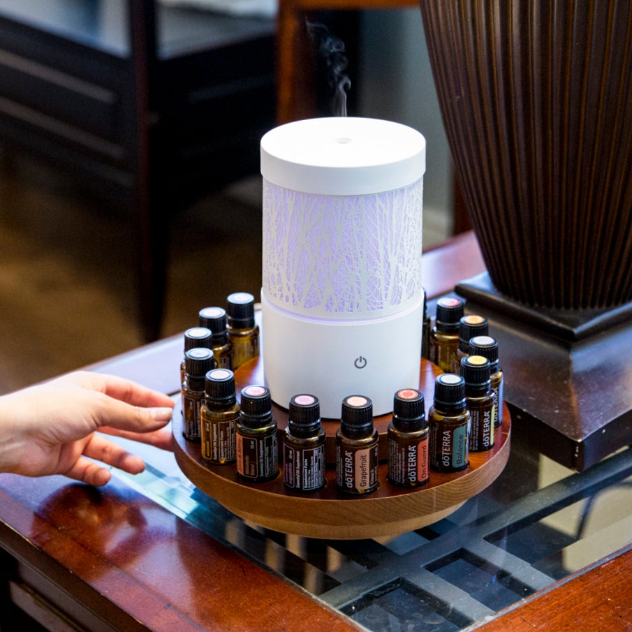 Rotating Essential Oil Diffuser Stand