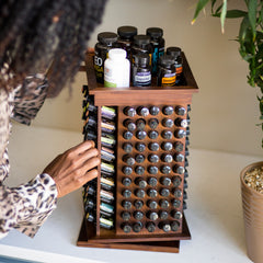 Introducing the Rotating Essential Oil Rack 2.0 [Oil Storage Display]