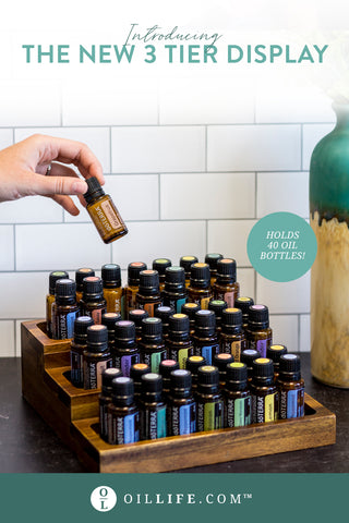 This display stores over 40 essential oil bottles!