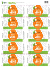 Green Cleaning Fruit & Veggie Labels