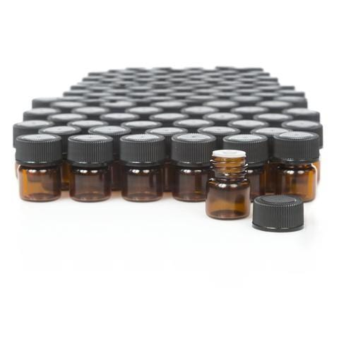 1/4 Dram Glass Sample Vials - Oil Life